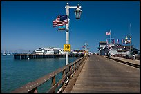 Stearns Wharf. Santa Barbara, California, USA (color)