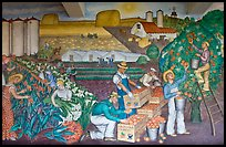 Public Works of Art Project mural, Coit Tower. San Francisco, California, USA