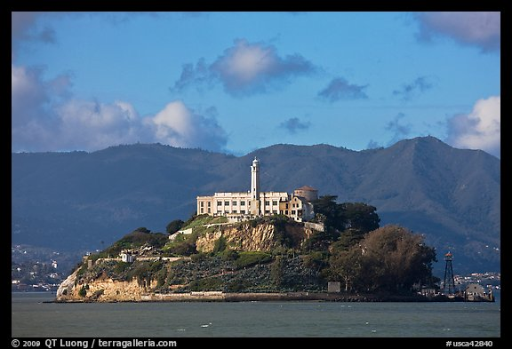 Alcatraz Island and prison. San Francisco, California, USA (color)