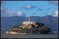 Alcatraz Island and prison. San Francisco, California, USA ( color)