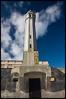 Lighthouse, Alcatraz  Penitentiary. San Francisco, California, USA ( color)