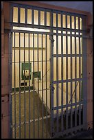 Cell in main block,  inside Alcatraz Penitentiary. San Francisco, California, USA ( color)