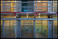 Prison cells, Alcatraz Penitentiary interior. San Francisco, California, USA (color)