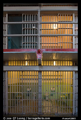 Cells inside Alcatraz prison. San Francisco, California, USA