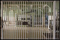 Dining hall, Alcatraz Penitentiary interior. San Francisco, California, USA ( color)