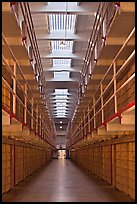 Cellhouse interior, Alcatraz Penitentiary. San Francisco, California, USA ( color)