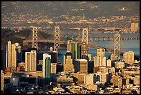 San Francisco high-rises, Bay Bridge, Yerba Buena Island, and East Bay. San Francisco, California, USA ( color)