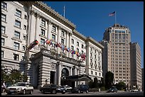 Luxury Hotels on Nob Hill. San Francisco, California, USA