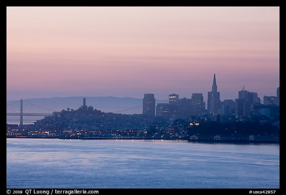 San Francisco skyline at dawn. San Francisco, California, USA