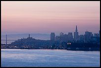 San Francisco skyline at dawn. San Francisco, California, USA (color)