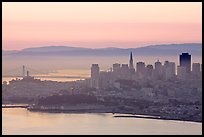 San Francisco cityscape with Bay at dawn. San Francisco, California, USA
