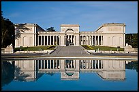 California Palace of the Legion of Honor with reflections, early morning. San Francisco, California, USA