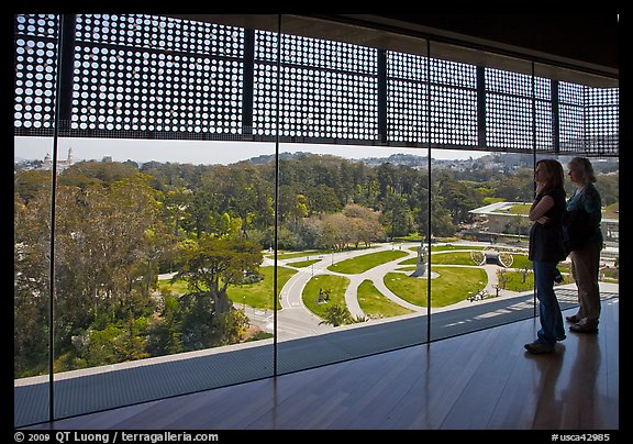 Observation room on top of Hamon Tower, De Young museum, Golden Gate Park. San Francisco, California, USA (color)
