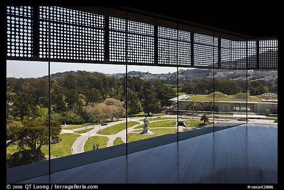 Museum Top View Top of de Young Museum