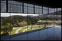 View over California Academy of Sciences building from top of De Young museum. San Francisco, California, USA ( color)