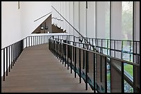 Staircase, M.H. De Young memorial museum. San Francisco, California, USA (color)