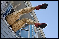 Giant lady legs on Haight street, Haight-Ashbury District. San Francisco, California, USA (color)