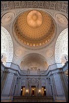 Rotunda and Dome, City Hall. San Francisco, California, USA (color)