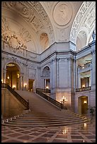 City Hall interior. San Francisco, California, USA (color)