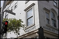 Corner of  Haight Street and Ashbury Street. San Francisco, California, USA ( color)