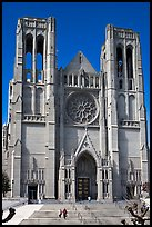 Grace Cathedral facade. San Francisco, California, USA