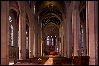 Grace Cathedral interior. San Francisco, California, USA