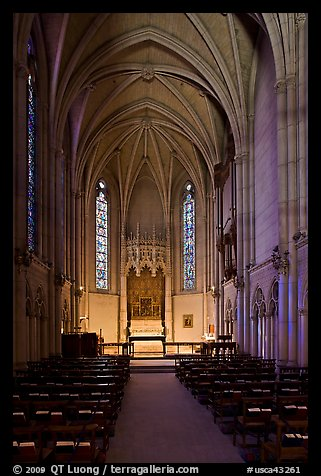 Side chapel, Grace Cathedral. San Francisco, California, USA (color)