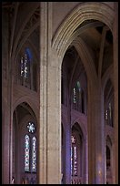 Detail of gothic-style vaulted arches, Grace Cathedral. San Francisco, California, USA