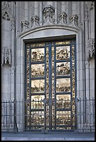Copy of doors of the Florence Baptistry by Lorenzo Ghiberti, Grace Cathedral. San Francisco, California, USA