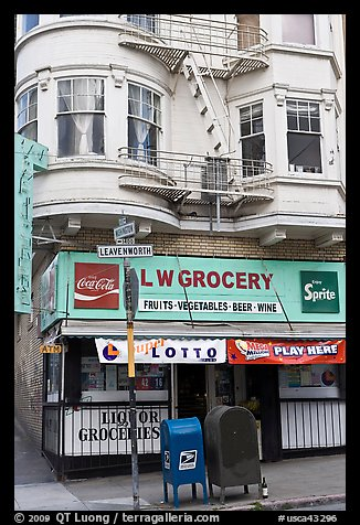 Grocery store. San Francisco, California, USA (color)