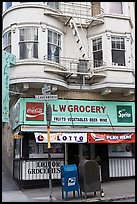 Grocery store. San Francisco, California, USA ( color)