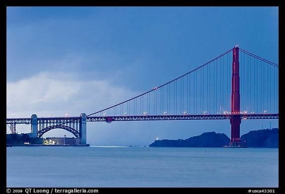 Storm over the Golden Gate Bridge. San Francisco, California, USA (color)