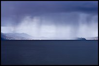 Dark storm over San Francisco Bay. California, USA (color)
