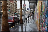 Rainy street. San Francisco, California, USA (color)