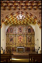 Altarpiece, Mission San Francisco de Asis. San Francisco, California, USA
