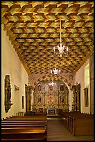 Interior of the Mission Dolores Chapel. San Francisco, California, USA ( color)