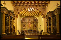 Chapel of Mission San Francisco de Asis. San Francisco, California, USA (color)