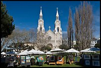Art fair on Washington Square Park, North Beach. San Francisco, California, USA ( color)