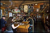 Inside Vesuvio saloon, North Beach. San Francisco, California, USA (color)