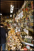 Inside Italian gourmet grocery store, Little Italy, North Beach. San Francisco, California, USA (color)