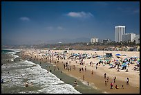 Santa Monica Beach in summer. Santa Monica, Los Angeles, California, USA