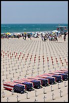 Iraq war memorial on the beach. Santa Monica, Los Angeles, California, USA (color)