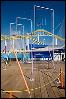 Empty acrobatics setup. Santa Monica, Los Angeles, California, USA (color)