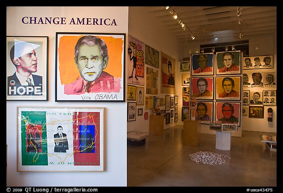 Political art, Bergamot Station. Santa Monica, Los Angeles, California, USA (color)