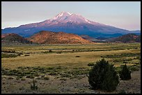 Mount Shasta in late summer. California, USA (color)