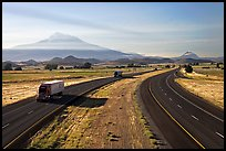 Highway 5 and Mount Shasta. California, USA