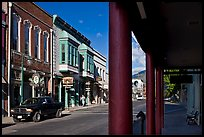 Main Street, Yreka. California, USA (color)
