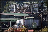 Pacific Lumber Company mill and truck, Scotia. California, USA ( color)