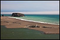 Russian River estuary and beach, Jenner. Sonoma Coast, California, USA ( color)