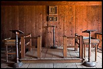 Russian chapel interior,  Fort Ross Historical State Park. Sonoma Coast, California, USA ( color)